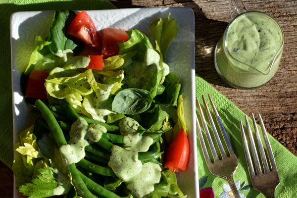 Green Goddess Salad with Green Goddess Dressing