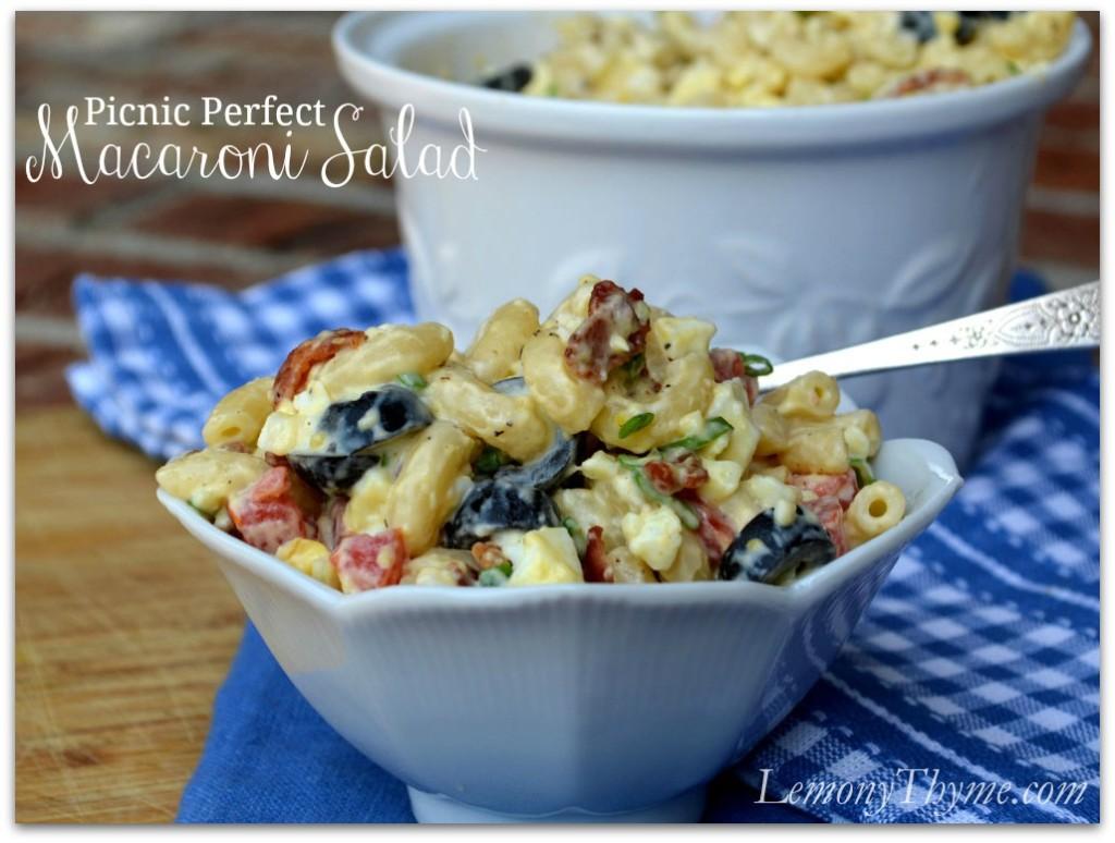 Picnic Perfect Macaroni Salad from Lemony Thyme