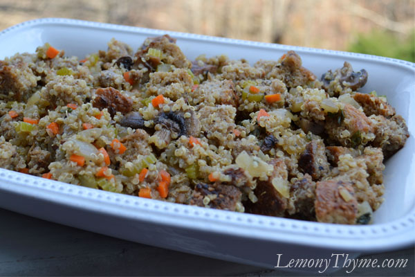 Sausage & Mushroom Stuffing with Quinoa & Herbs