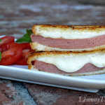 Fried Bologna & Mozzarella Grilled Cheese Sandwich1