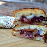 Roasted Grape, Brie & Bacon Grilled Cheese Sandwich from Lemony Thyme