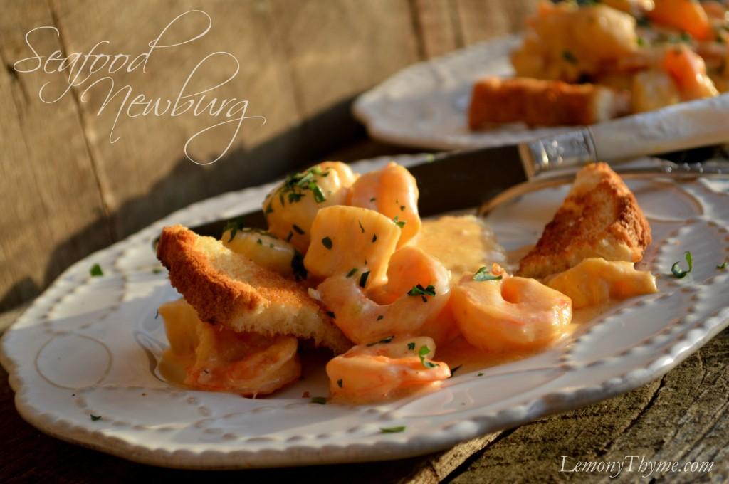 Seafood Newburg from Lemony Thyme