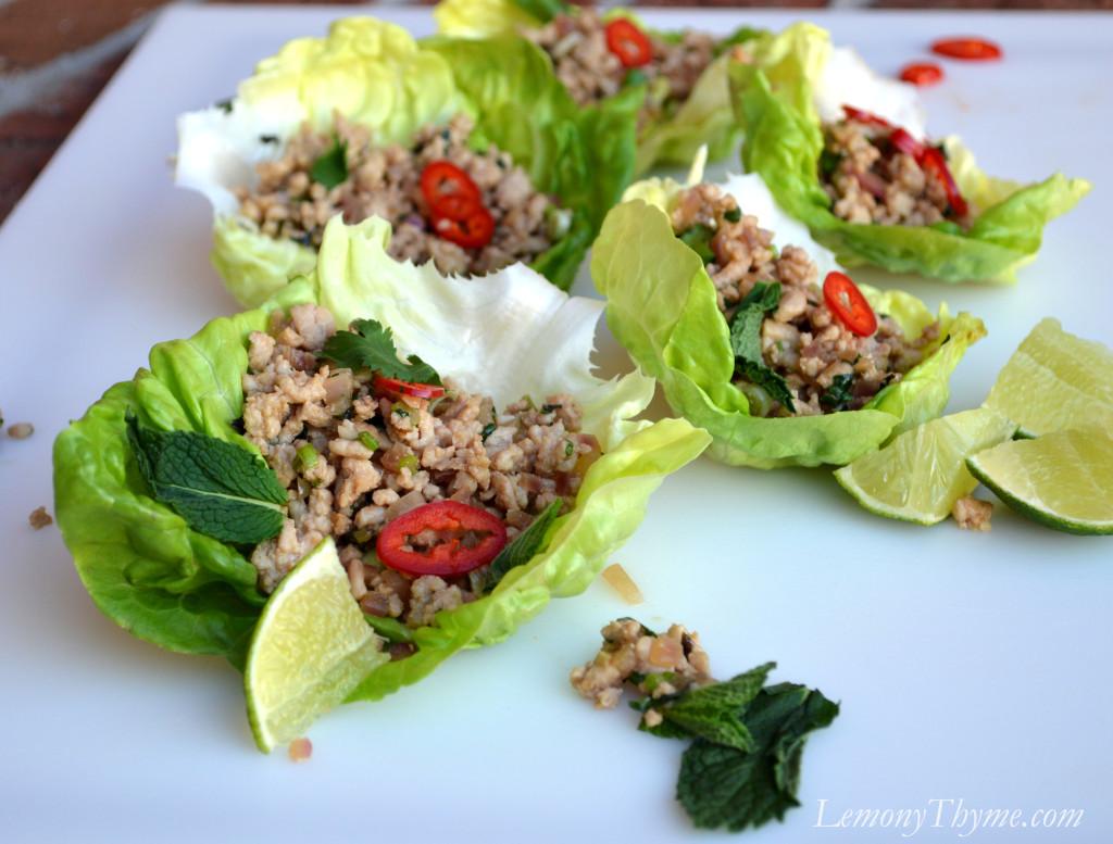 Thai Larb Salad Lemony Thyme