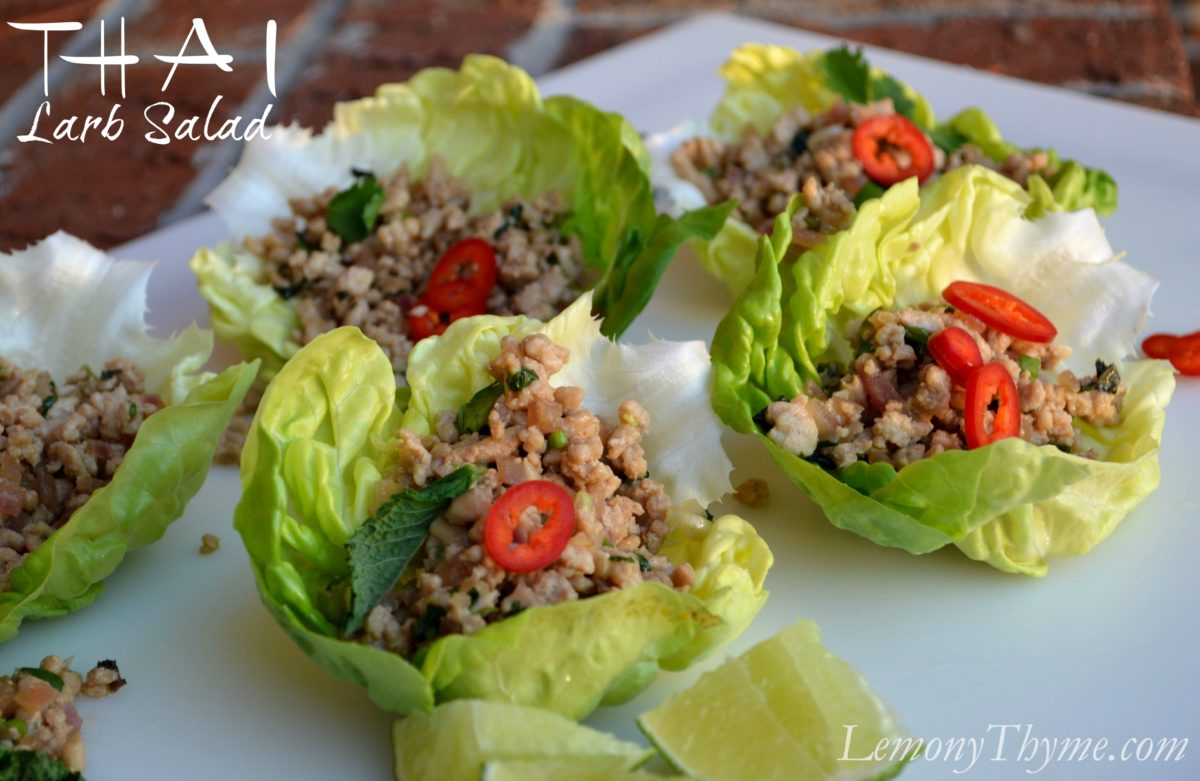Thai Larb Salad from Lemony Thyme Lemony Thyme