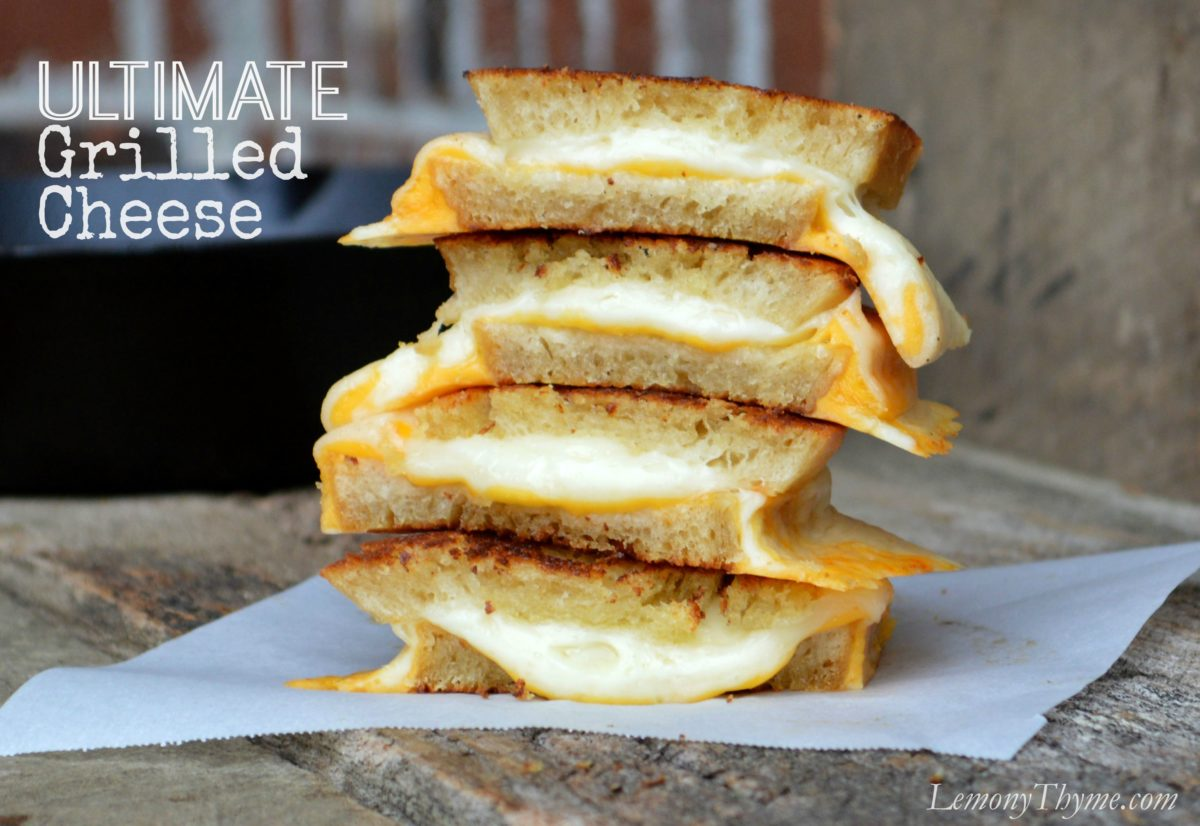 Grilled Cheese Sandwiches {one-a-day for 30 days} Lemony Thyme