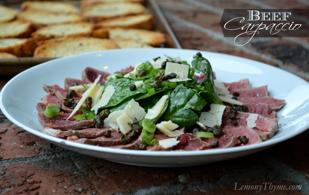 ... salad and poached egg make beef carpaccio love2feed beef carpaccio by