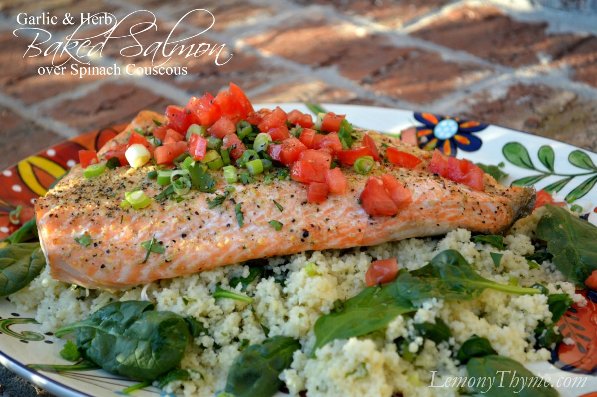 Herb-Stuffed Baked Salmon Recipes — Dishmaps
