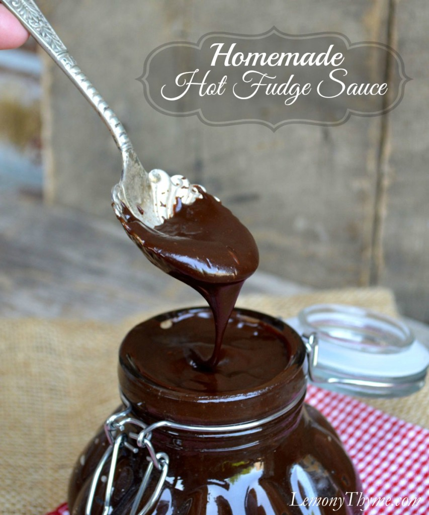 ... the spoon. This spoon. The one dripping with Homemade Hot Fudge Sauce