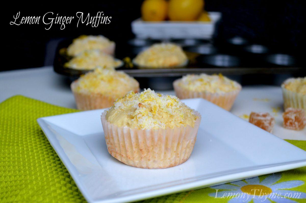 Lemon Ginger Muffins from Lemony Thyme