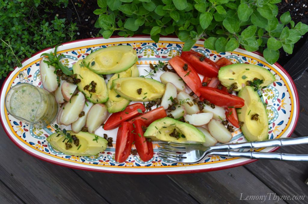 This Quartered Salad {with Fresh Herb Vinaigrette} was a wonderful ...
