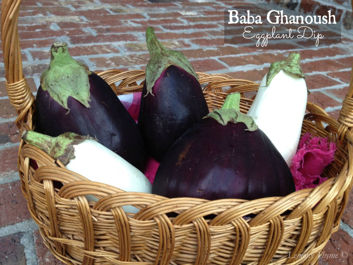 Baba Ghanoush Eggplant Dip Lemony Thyme
