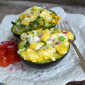 Herbed Scrambled Eggs in Avocado Boats2