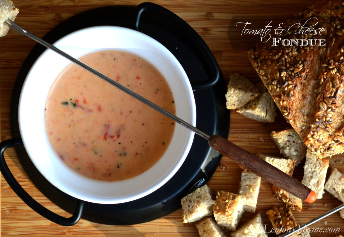 Tomato & Cheese Fondue from Lemony Thyme1