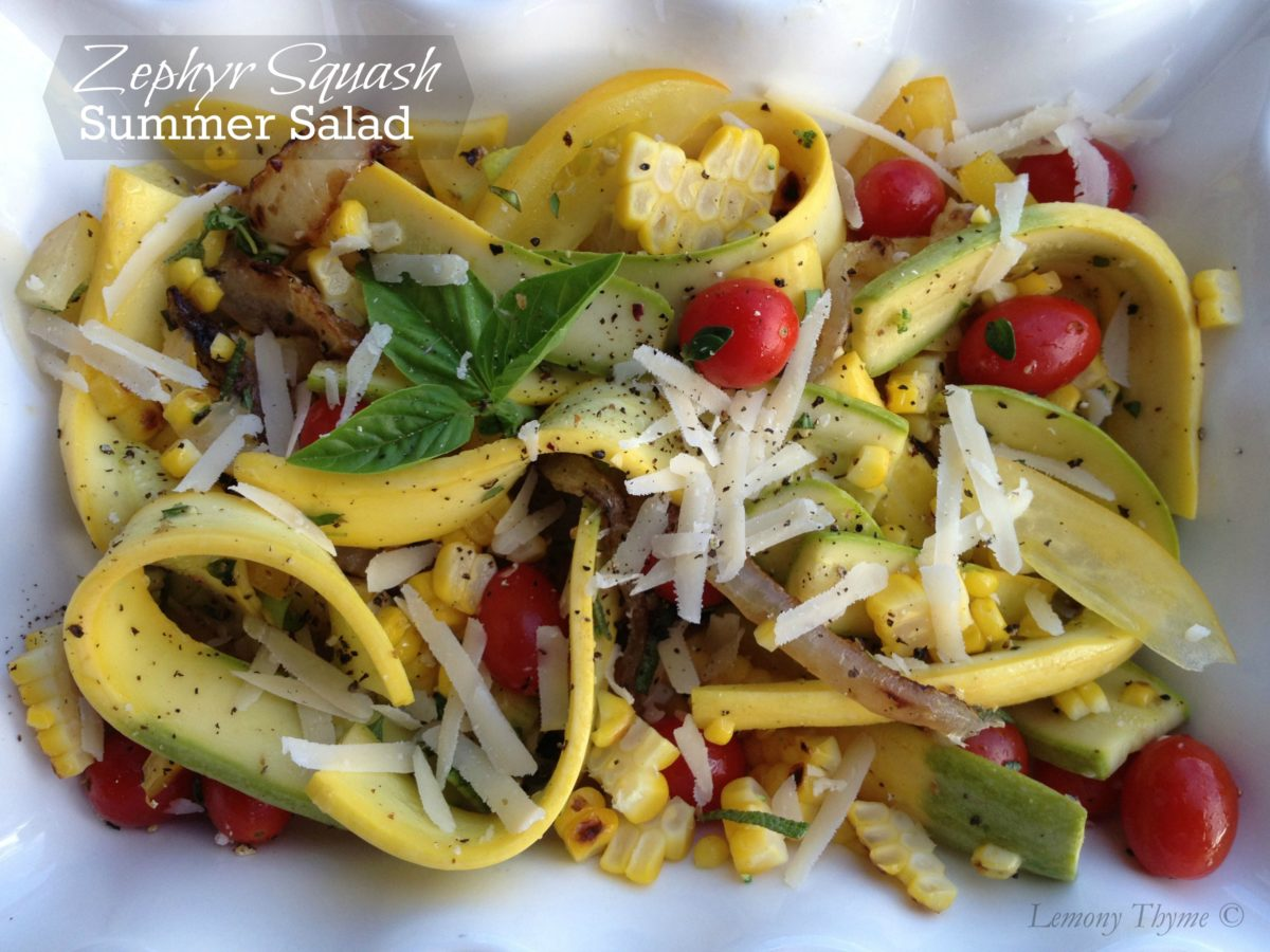Zephyr Squash Summer Salad from Lemony Thyme