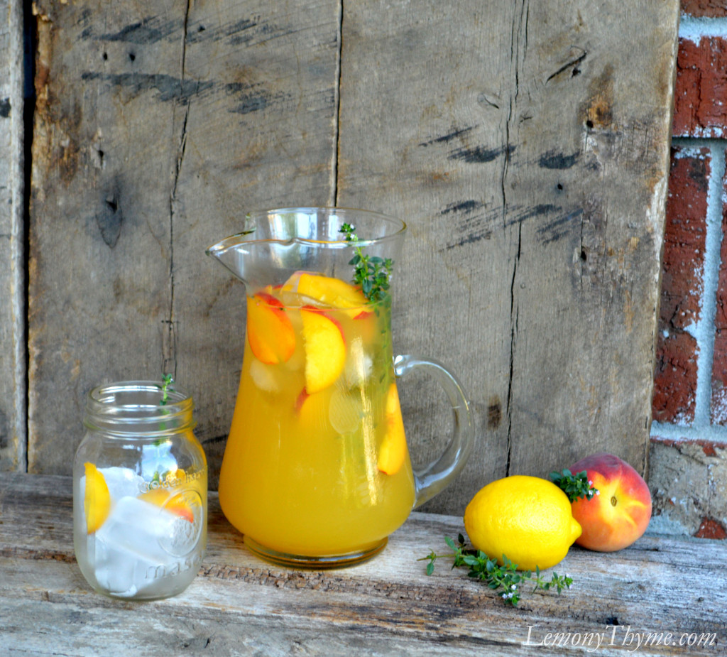 ... with peaches chef peach thyme lemonade peach and thyme lemonade 6 2