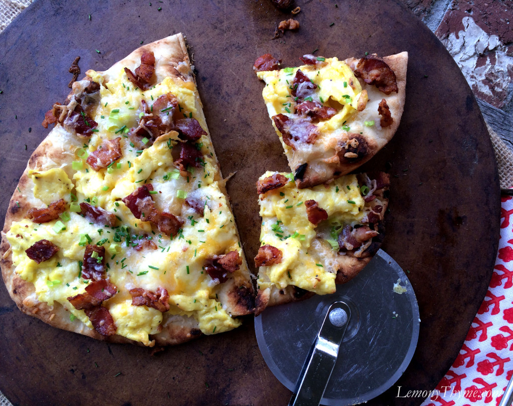 » Bacon, Egg & Cheese Flatbread Pizza Lemony Thyme