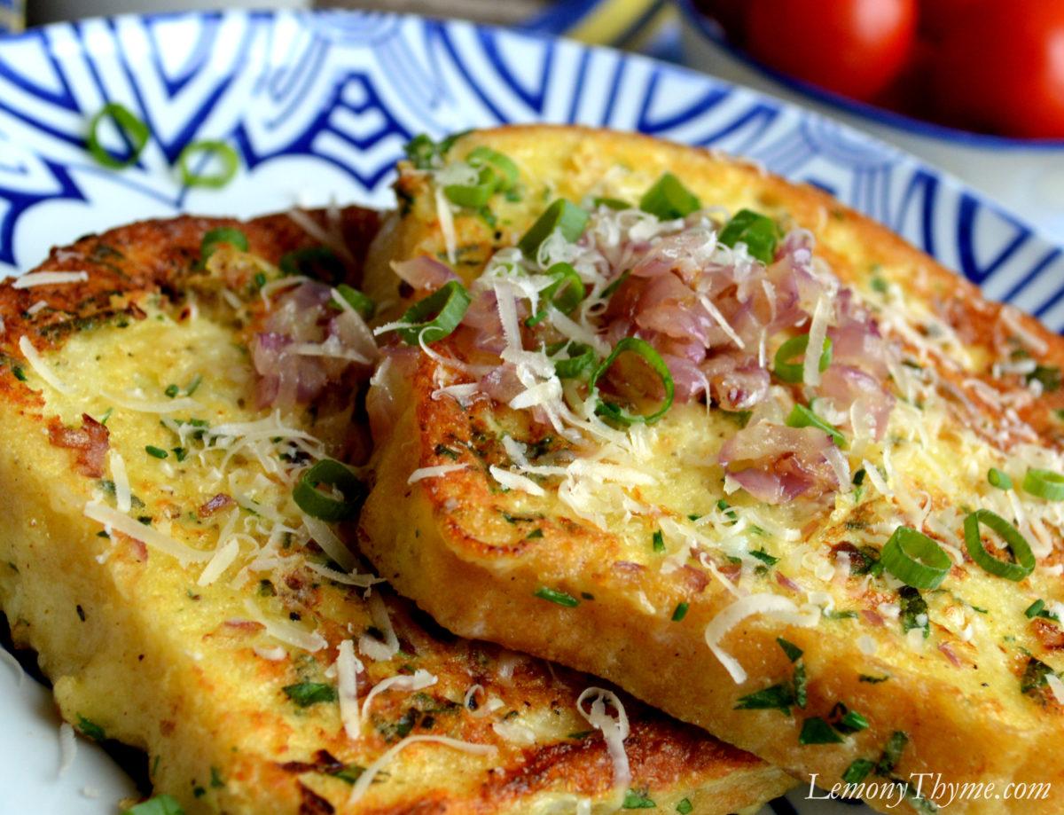 Parmesan & Herb Savory French Toast5 Lemony Thyme