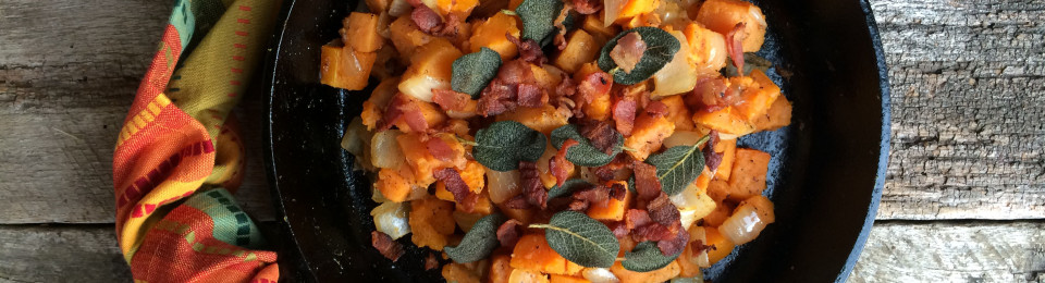 Roasted Sweet Potato & Butternut Squash {with Crispy Sage & Bacon ...