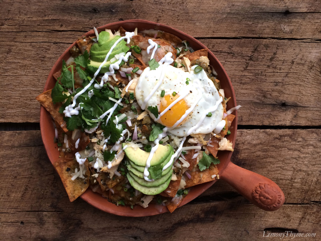 Chicken Chilaquiles {with Fried Eggs} Lemony Thyme