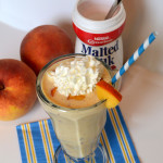Malted Peach Frappe