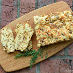 Parmesan & Herb Quick Bread with Caramelized Onions