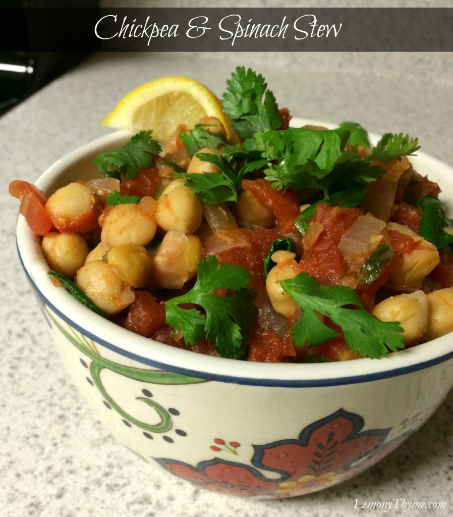 Chickpea and Spinach Stew from Lemony Thyme