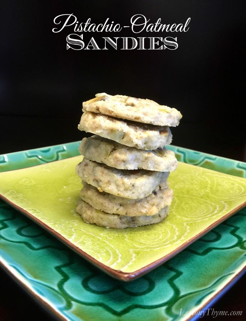 Pistachio Oatmeal Sandies | LemonyThyme.com