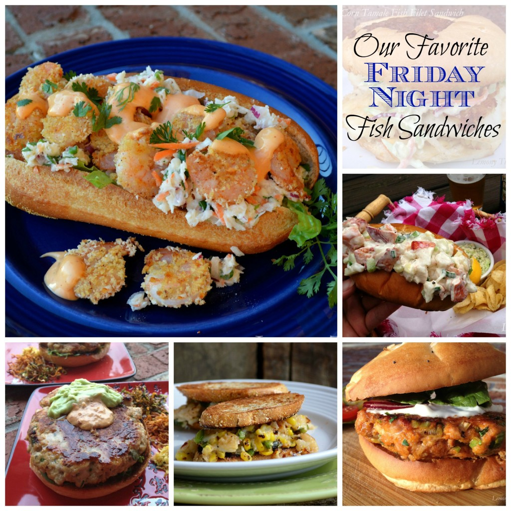 Fish Sandwich Collage | LemonyThyme.com