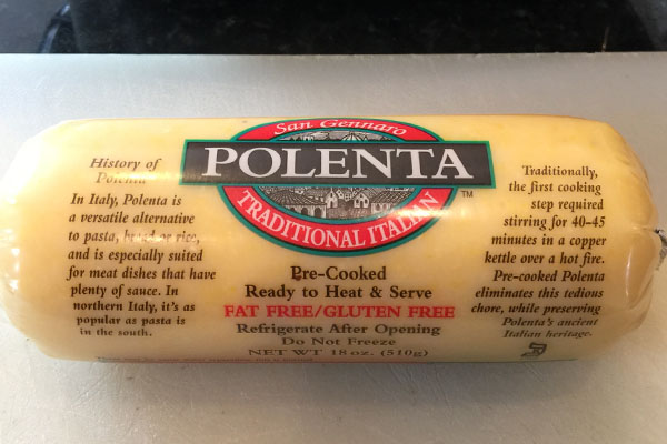 The star ingredient in this recipe is a tube of polenta. Not only does ...