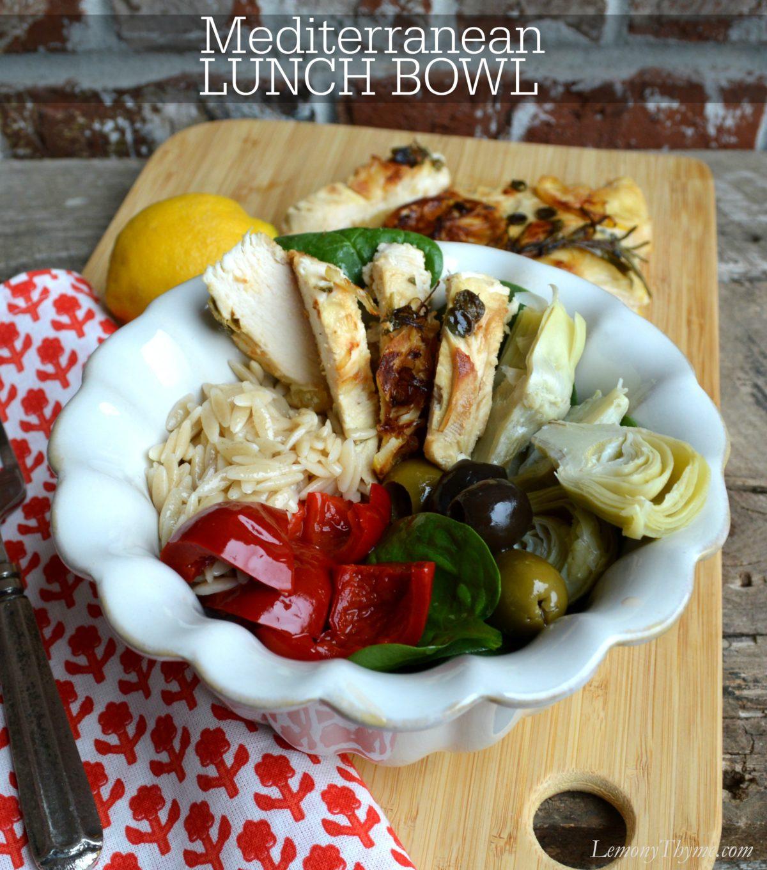 Mediterranean Lunch Bowl | LemonyThyme.com