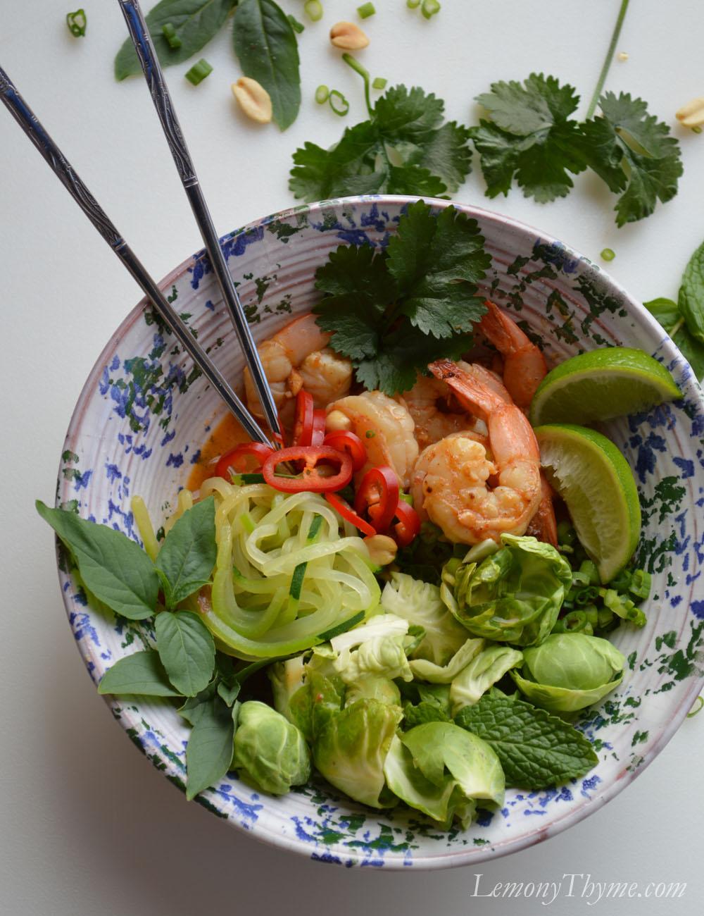... hungry. I'm proposing Spicy Shrimp Thai Buddha Bowls all around