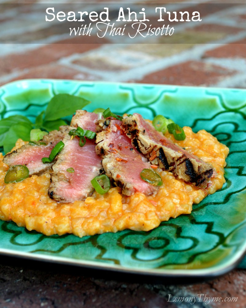 Seared Ahi Tuna with Thai Risotto Lemony Thyme