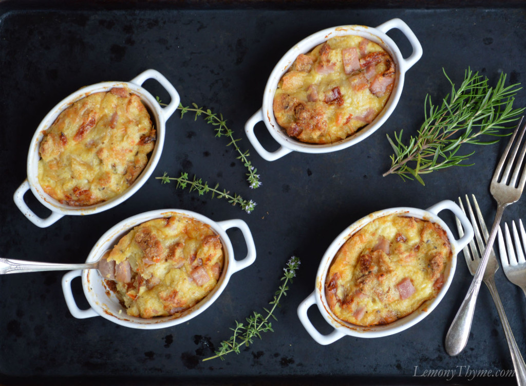 Rosemary Ham & Swiss Savory Bread Pudding3 Lemony Thyme