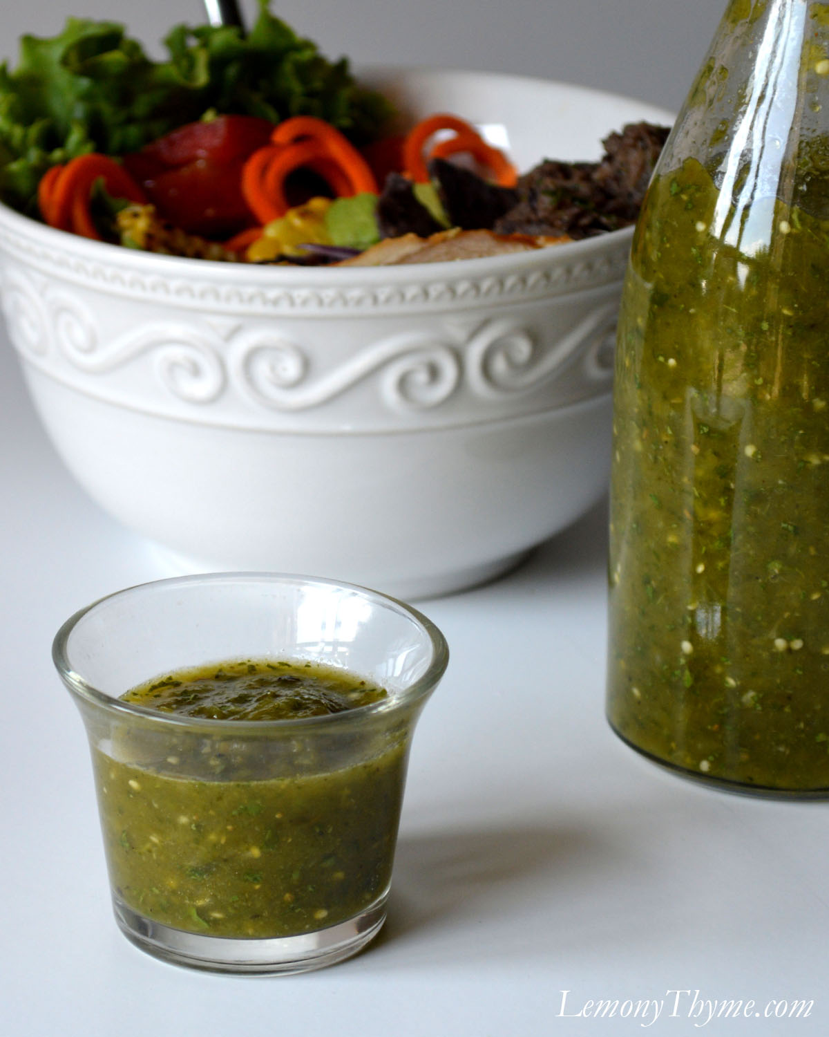 Flame Roasted Poblano, Cilantro & Lime Dressing1