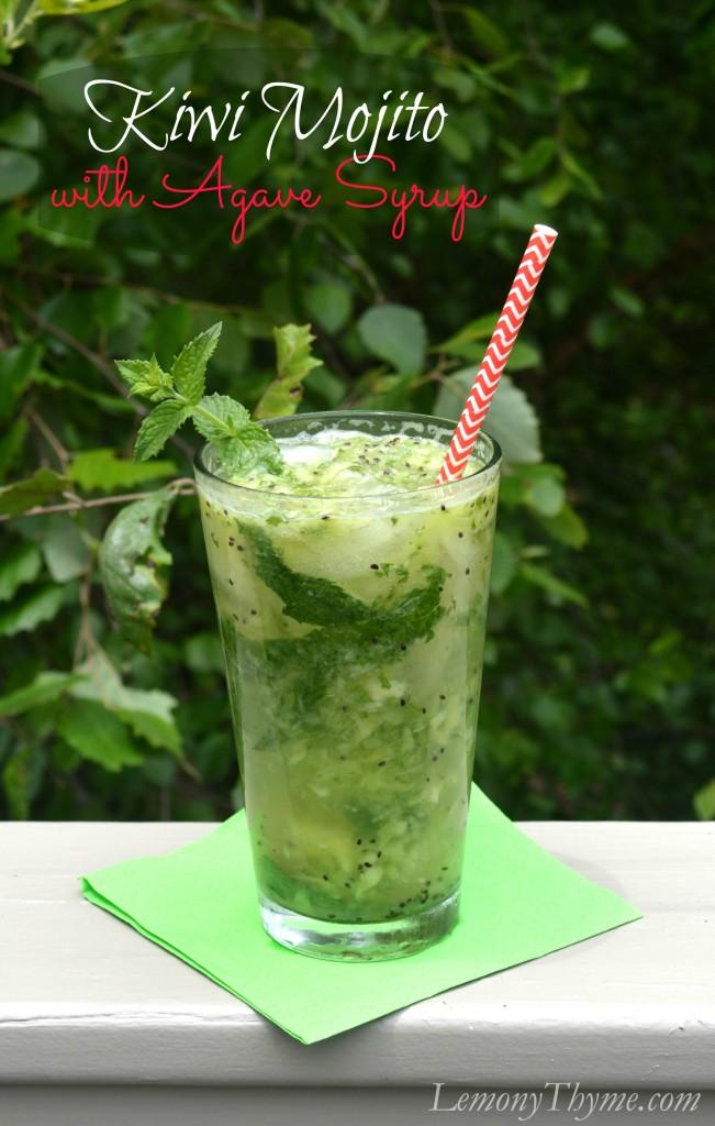 Kiwi Mojito with Agave Syrup | LemonyThyme.com