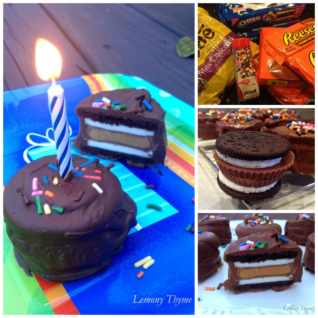 Chocolate Dipped Peanut Butter Cup Stuffed Oreo Collage
