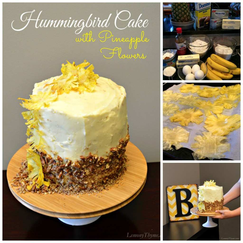 Hummingbird Cake Collage